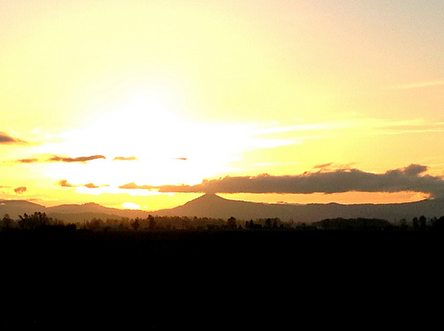 Sunset over the Coast Range from Junction City