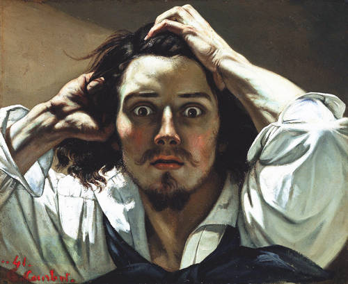 "Gustave Courbet, ""Self-portrait (The Desperate Man), c. 1843–45"