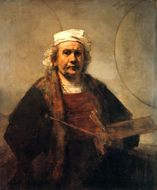 "Rembrandt's self portrait at London's Kenwood House, ""Self-Portrait With Two Circles."""
