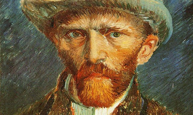 "Vincent Van Gogh: ""Self Portrait with a Grey Felt Hat, 1887"