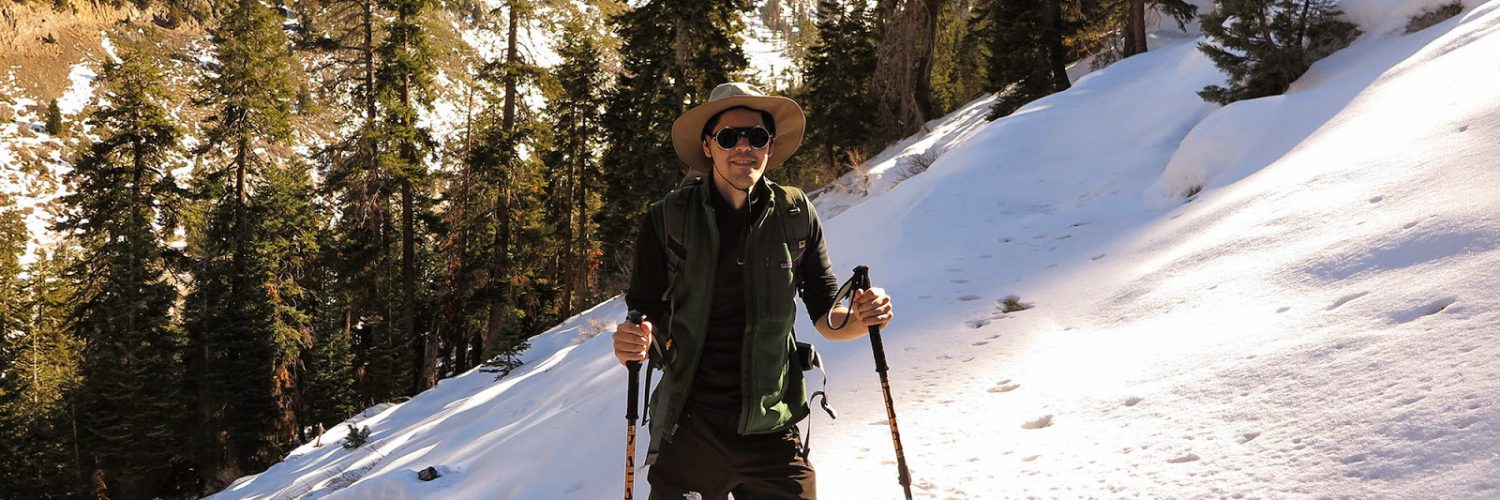 This could be my dad in those old school rawhide snowshoes, and this country is very similar to the Cascade wilderness where our family did our Christmas Tree hunting.